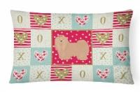 Lhasa Apso #1 Love Canvas Fabric Decorative Pillow