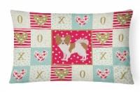 Papillon #1 Love Canvas Fabric Decorative Pillow