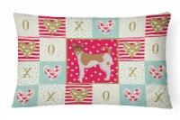 Carolines Treasures  CK5896PW1216 Tenterfield Terrier Love Canvas Fabric Decorat