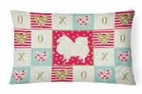 Carolines Treasures  CK5955PW1216 Spitz Love Canvas Fabric Decorative Pillow