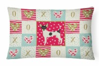 Carolines Treasures  CK5957PW1216 Toy Fox Terrier Love Canvas Fabric Decorative