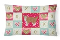 Manx #2 Cat Love Canvas Fabric Decorative Pillow