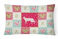 Carolines Treasures  CK5724PW1216 Tonkinese #2 Cat Love Canvas Fabric Decorative