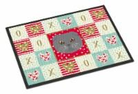 Carolines Treasures  CK5158JMAT Scottish Fold Cat Love Indoor or Outdoor Mat 24x
