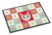 Carolines Treasures  CK5122MAT Japanese Bobtail Cat Love Indoor or Outdoor Mat 1