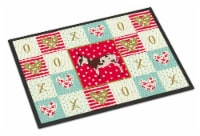 Carolines Treasures  CK5278MAT American Spotted Donkey Love Indoor or Outdoor Ma - 18Hx27W