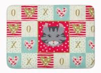 American Curl Cat Love Machine Washable Memory Foam Mat