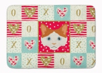 Carolines Treasures  CK5127RUG La Perm Cat Love Machine Washable Memory Foam Mat