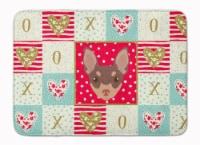 "Toy Fox Terrier Love Machine Washable Memory Foam Mat - 19 X 27"""