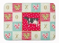 Carolines Treasures  CK5249RUG Holstein Cow Love Machine Washable Memory Foam Ma