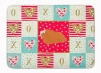 Peruvian Guinea Pig Love Machine Washable Memory Foam Mat