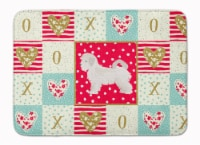 Maltese Puppy Cut Love Machine Washable Memory Foam Mat
