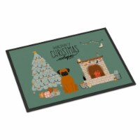 Carolines Treasures  CK7678JMAT Fawn Boxer Christmas Everyone Indoor or Outdoor - 24Hx36W