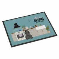 Black Cocker Spaniel Kitchen Scene Indoor or Outdoor Mat 24x36 - 24Hx36W