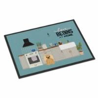 Fawn Sable Pekingese Kitchen Scene Indoor or Outdoor Mat 24x36 - 24Hx36W