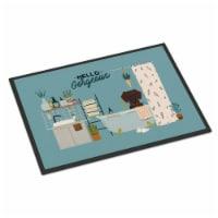 Chocolate Wire Haired Dachshund in Bathtub Indoor or Outdoor Mat 18x27 - 18Hx27W
