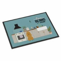 Carolines Treasures  CK7773MAT Tan Poodle Kitchen Scene Indoor or Outdoor Mat 18 - 18Hx27W
