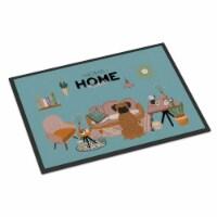 Carolines Treasures  CK7962MAT Brindle Boxer Sweet Home Indoor or Outdoor Mat 18 - 18Hx27W