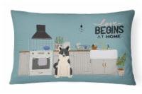 Russo-European Laika Spitz Kitchen Scene Canvas Fabric Decorative Pillow - 12Hx16W