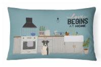 Smooth Fox Terrier Kitchen Scene Canvas Fabric Decorative Pillow