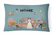 West Siberian Laika Spitz Sweet Home Canvas Fabric Decorative Pillow