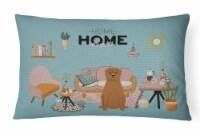 Dogue de Bourdeaux Sweet Home Canvas Fabric Decorative Pillow - 12Hx16W