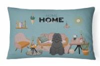 Bouvier des Flandres Sweet Home Canvas Fabric Decorative Pillow