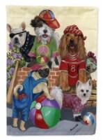 Carolines Treasures  PPP3115GF Dogs Mutli-Breed Neighborhood Flag Garden Size - Garden Size