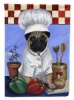 Carolines Treasures  PPP3155GF Pug Veggie Chef Flag Garden Size - Garden Size