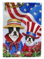 Carolines Treasures  PPP3038CHF Boston Terrier USA Flag Canvas House Size