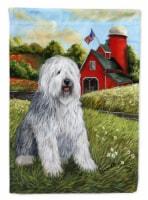 Old English Sheepdog Heaven Flag Canvas House Size - House Size