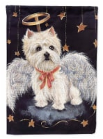 Carolines Treasures  PPP3123CHF Westie Christmas Angel Flag Canvas House Size