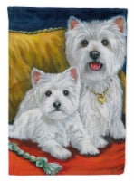 Carolines Treasures  PPP3218CHF Westie Mom and Pup Flag Canvas House Size