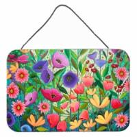 Enchanted Garden Flowers Wall or Door Hanging Prints - 8HX12W