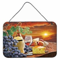 Chianti, Pears, Wine and Cheese Wall or Door Hanging Prints - 8HX12W