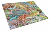 Scales and Tails, Snakes, Turtle, Reptiles Glass Cutting Board Large