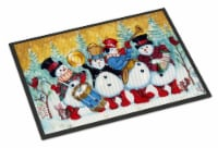 Snowmen Strike up the Band Indoor or Outdoor Mat 18x27 - 18Hx27W