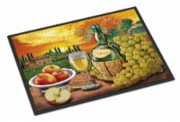 Soave, Apple, Wine and Cheese Indoor or Outdoor Mat 18x27 - 18Hx27W