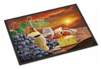 Chianti, Pears, Wine and Cheese Indoor or Outdoor Mat 18x27 - 18Hx27W