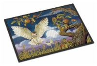 Barn Owl In The Apple Orchard Indoor or Outdoor Mat 18x27