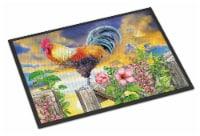 Rooster Barnyard Morning Indoor or Outdoor Mat 18x27 - 18Hx27W