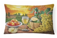 Soave, Apple, Wine and Cheese Canvas Fabric Decorative Pillow - 12Hx16W