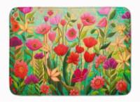 "Wild Beauty Flowers Machine Washable Memory Foam Mat - 19 X 27"""