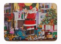 "Santa Claus Placing the Presents Machine Washable Memory Foam Mat - 19 X 27"""