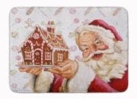 Santa Claus A Home for the Holidays Machine Washable Memory Foam Mat