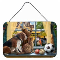 Beagle, Cats Back to School Wall or Door Hanging Prints - 8HX12W