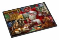 Santa's Workshop, Golden Retriever and Cats Indoor or Outdoor Mat 24x36