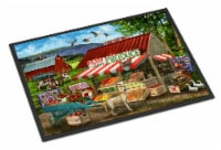Produce Stand Yellow Lab and Cows Indoor or Outdoor Mat 24x36 - 24Hx36W