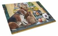Beagle, Cats Back to School Glass Cutting Board Large - 12Hx15W