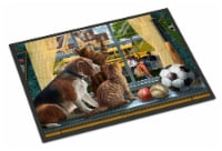 Beagle, Cats Back to School Indoor or Outdoor Mat 18x27 - 18Hx27W